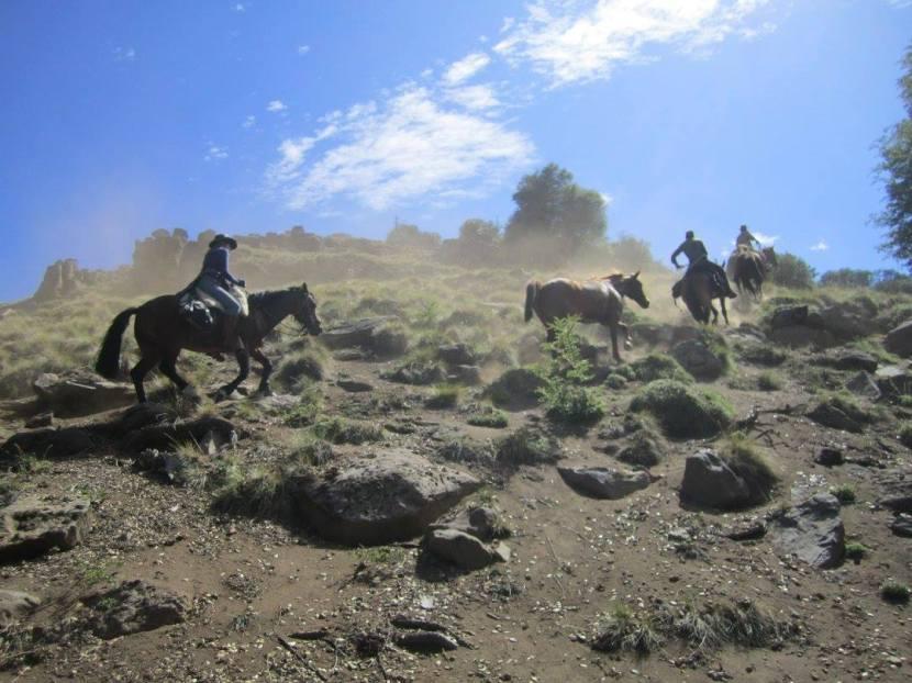 Cabalgando en Patagonia