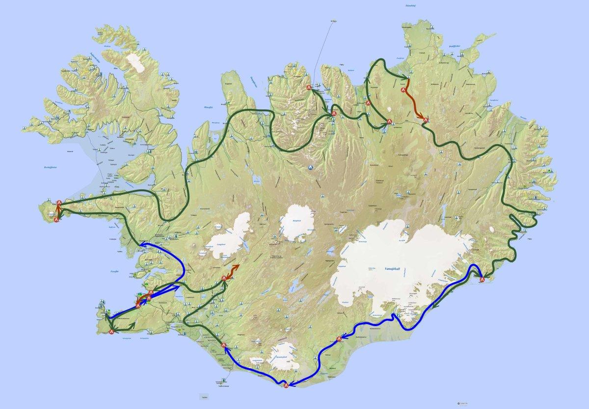 island-karte_campingplaetze-und-tankstellen